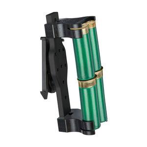 """Safariland Model 086 Double 4 Shell Holder 12 Gauge 2"""" Belt Mount Aluminum/Polymer Black"""