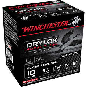 "Winchester Drylok 10ga 3-1/2"" BB Steel 1-5/8oz 25 Rnd Box"