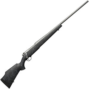 Weatherby Mark V Weathermark Bolt Action Rifle 6.5 Creedmoor 4 Rounds Black Synthetic Stock with Spider Web Accents Cerakote Grey Finish