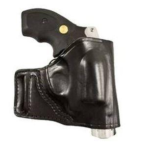 DeSantis E-GAT Belt Slide Holster S&W J Frame Right Hand Leather Black 115BA02Z0