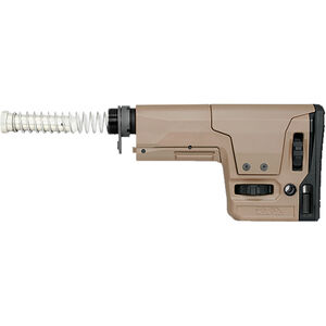 Rock River AR-15 RRA Marksman 6 Position Stock Kit Fully Adjustable Stock Mil-Spec 6 Position Buffer Tube with Carbine Buffer and Buffer Spring Polymer Tan