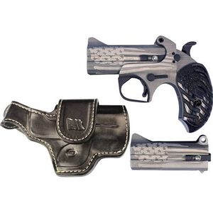 "Bond Arms Old Glory Package .45 LC/.410 Bore and .357 Mag/.38 Special Derringer 3.5"" Barrels 2 Rounds with Driving Holster Wood Old Glory Grip American Flag Finish"