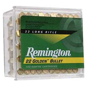 Remington .22 LR Golden Bullet 40 Grain RN 1255 fps 100 Rounds REM1500