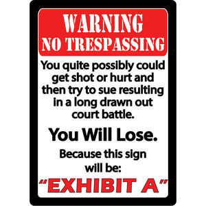 """River's Edge Products """"Exhibit A"""" Tin Sign 12 Inches by 17 Inches"""
