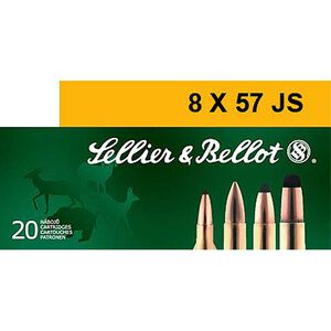 Sellier & Bellot 8x57 JS Ammunition 20 Rounds 196 Grain Full Metal Jacket 2,558fps