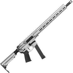 "CMMG Resolute 300 MkGs 9mm Luger AR-15 Semi Auto Rifle 16"" Barrel 33 Rounds Uses GLOCK Style Magazines RML15 M-LOK Handguard RipStock Collapsible Stock Titanium Finish"