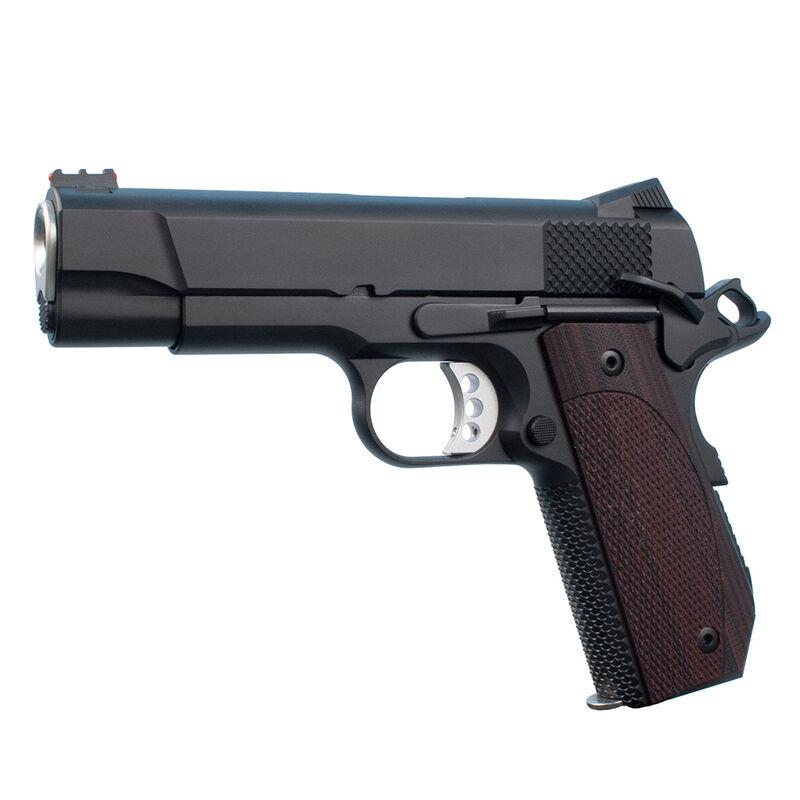 "Ed Brown Kobra Carry Lightweight 1911 Semi Auto Pistol 9mm Luger 4.25"" Barrel 8 Rounds Fiber Optic Front/Fixed Rear Sights Slim Laminate Wood Grips Matte Black Finish"
