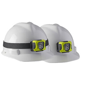 Streamlight Enduro Pro USB Rechargeable Multi-Function Headlamp 200 Lumens 2080 Candela Rubber Hard Hat Strap and 3M Dual Lock Fasteners