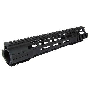"TacFire AR-15 Ultra-Slim Clamp-On Free Float Quad Rail 12"" Rifle Length Version 2 Aluminum Black HG07-12"