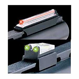 "TRUGLO Magnum Gobble-Dot Xtreme Fiber Optic 5/16"" Rib Shotgun Sights Red front Green rear Steel"
