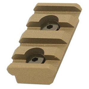 UTG PRO 4-Slot Keymod Picatinny Rail Section-Burnt Bronze