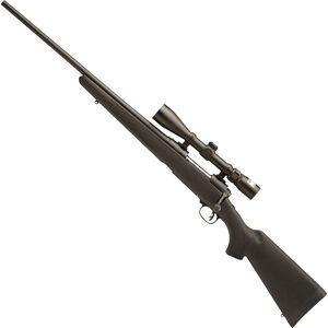 """Savage 11 Trophy Hunter XP Left Hand Bolt Action Rifle .243 Win 22"""" Barrel 4 Rounds Nikon 3-9x40  Scope Synthetic Stock Black Finish 19696"""