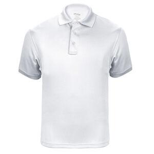 Elbeco UFX Tactical Polo Men's Short Sleeve Polo Small 100% Polyester Swiss Pique Knit White