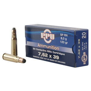 Prvi Partizan PPU 7.62x39 Ammunition 123 Grain Soft Point Round Nose 2350 fps