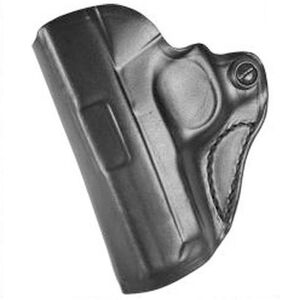 DeSantis Gunhide Mini Scabbard SIG P365 Belt Holster Left Hand Leather Black