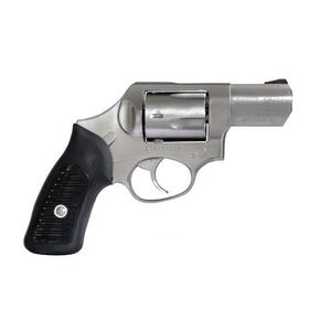 """Ruger SP101 Double Action Only Revolver .357 Magnum 2.25"""" Barrel 5 Rounds Integral Rear Sight Black Ramp Front Sight Synthetic Black Rubber Grip Spurless Hammer Stain Stainless Steel Finish"""