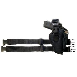 Bulldog Cases Tactical Leg Holster Medium to Large Autos Right Hand Nylon Black WTAC 7R