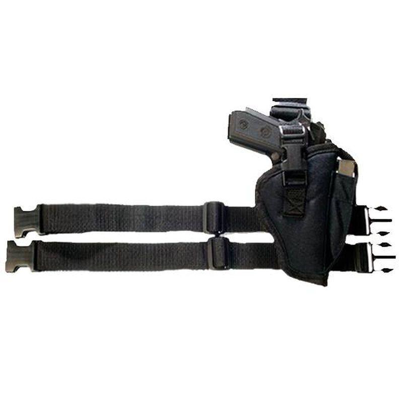 Bulldog Cases Tactical Leg Holster Medium to Large Autos Right Hand Nylon Black WTAC 7R