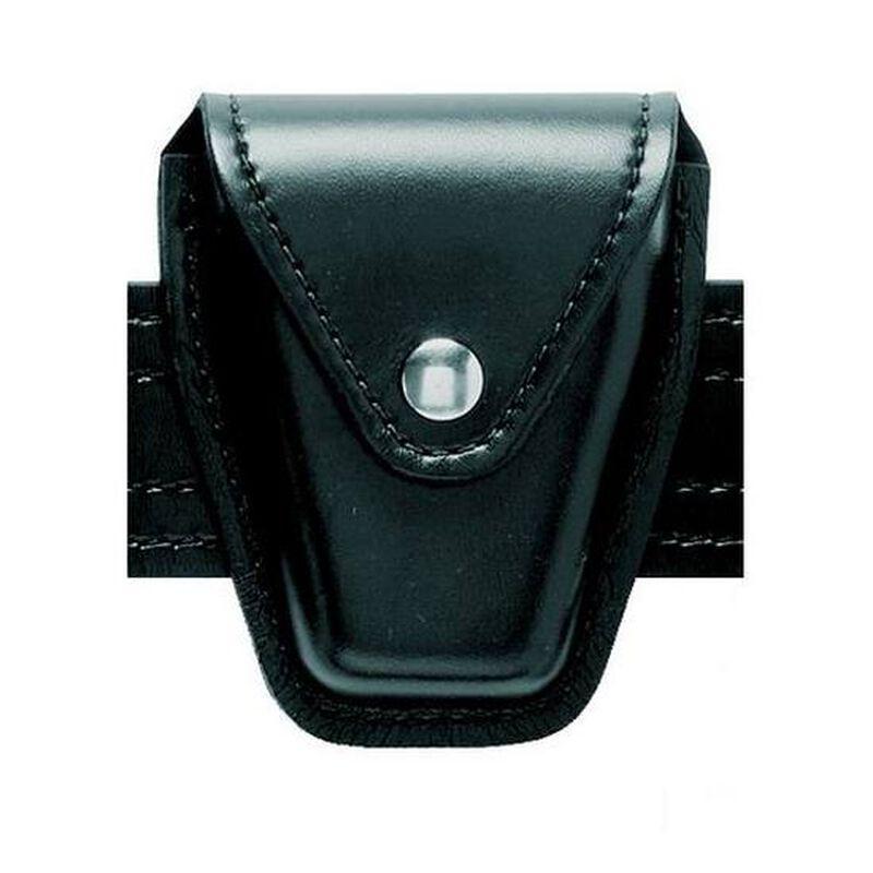 Safariland Model 190 Handcuff Case Chain Brass Snap Plain Black