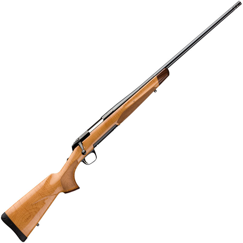 """Browning X-Bolt Medallion Maple Bolt Action Rifle .270 Win 22"""" Barrel 4 Rounds Free Float AAA Maple Stock Gloss Blued Finish"""