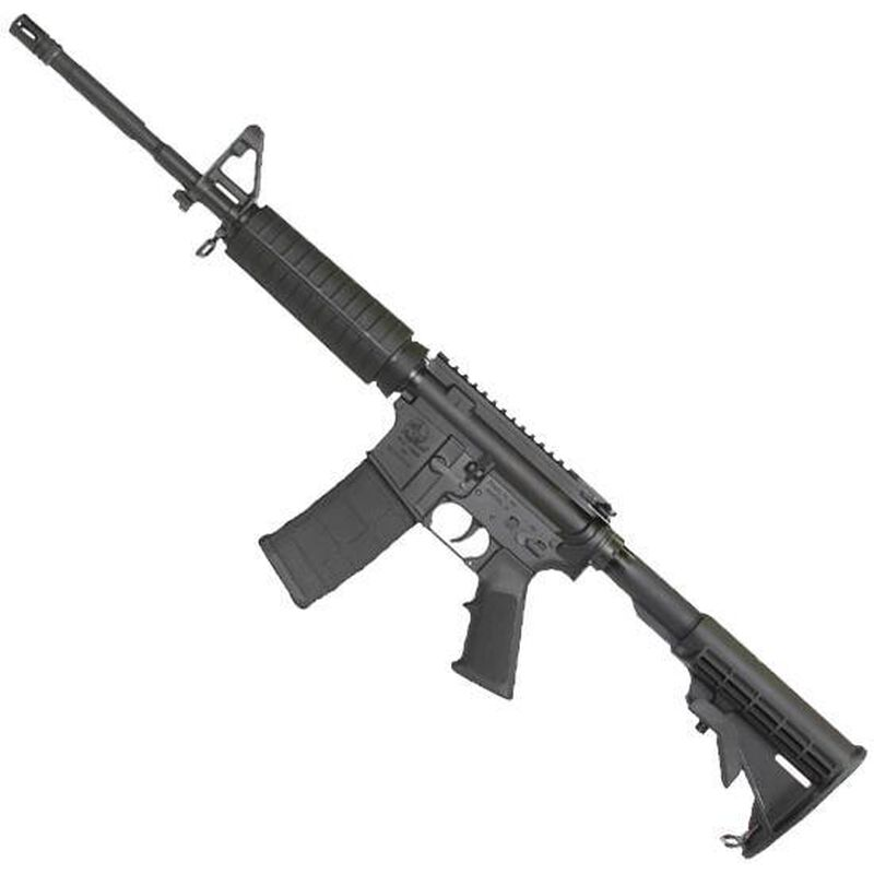 "ArmaLite M-15 DEF15F AR-15 Semi Auto Rifle 5.56 NATO 16"" Barrel 30 Rounds Polymer Hand Guard A2 Front Sight Flash Suppressor Collapsible Stock Black"
