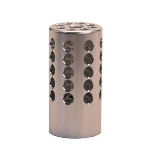 """Tactical Solutions Pac-Lite Compensator 1"""" Outside Diameter 1/2x28 Thread Pitch .22 Long Rifle Compatible Silver Finish"""