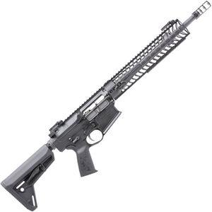 "Spikes Tactical Roadhouse Battle Rifle .308 Win AR-308 Semi Auto Rifle 16"" Barrel 12"" M-LOK Handguard Collapsible Stock Matte Black Finish"