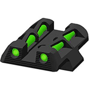 HiViz LITEWAVE GLOCK 42/43 Handgun Fiber Optic #8 Rear Sight Red/Green/Black Steel Black GLLW11