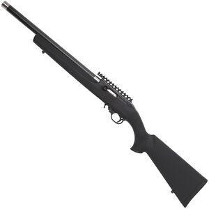 "Magnum Research MagnumLite SnapShot Semi Auto Rimfire Rifle .22 LR 17"" Graphite Bull Barrel 10 Rounds Ambidextrous Bolt Handle Hogue Overmolded Stock Black Finish"