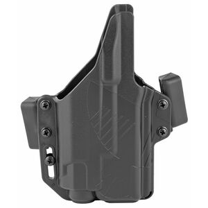 Raven Concealment Systems Perun Light Bearing OWB Holster For GLOCK 19/23/32 Ambidextrous Draw Surefire X300 Ultra Compatible Matte Black Finish