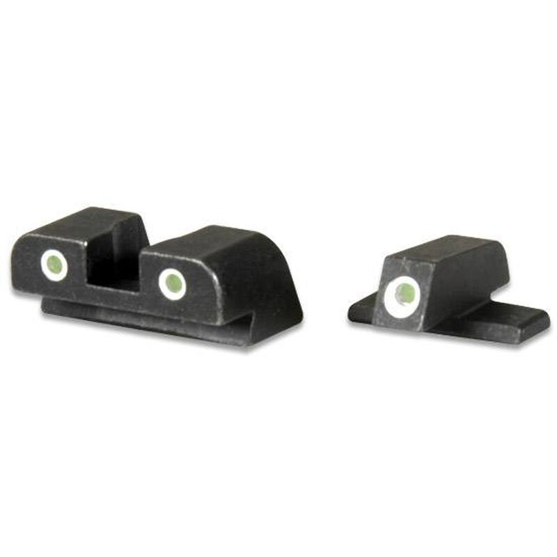 AmeriGlo Springfield XD/XDM/XDS 3-Dot Night Sights Green Front/Rear Black