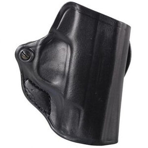 DeSantis Mini Scabbard Fits GLOCK 29/30 H&K P2000 Belt Slide Holster Right Hand Leather Black
