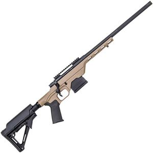 "Mossberg MVP LC Bolt Action Rifle .308 Win 18.5"" Fluted Bull Barrel MDT LSS Light Chassis FDE Stock Matte Blued Finish"