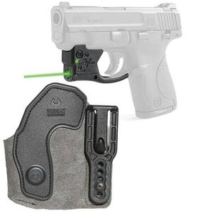 Viridian Reactor 5 Gen 2 Green Laser Sight with ECR S&W M&P 9/40 with Ambidextrous IWB Instant-On Holster Polymer Housing Matte Black Finish