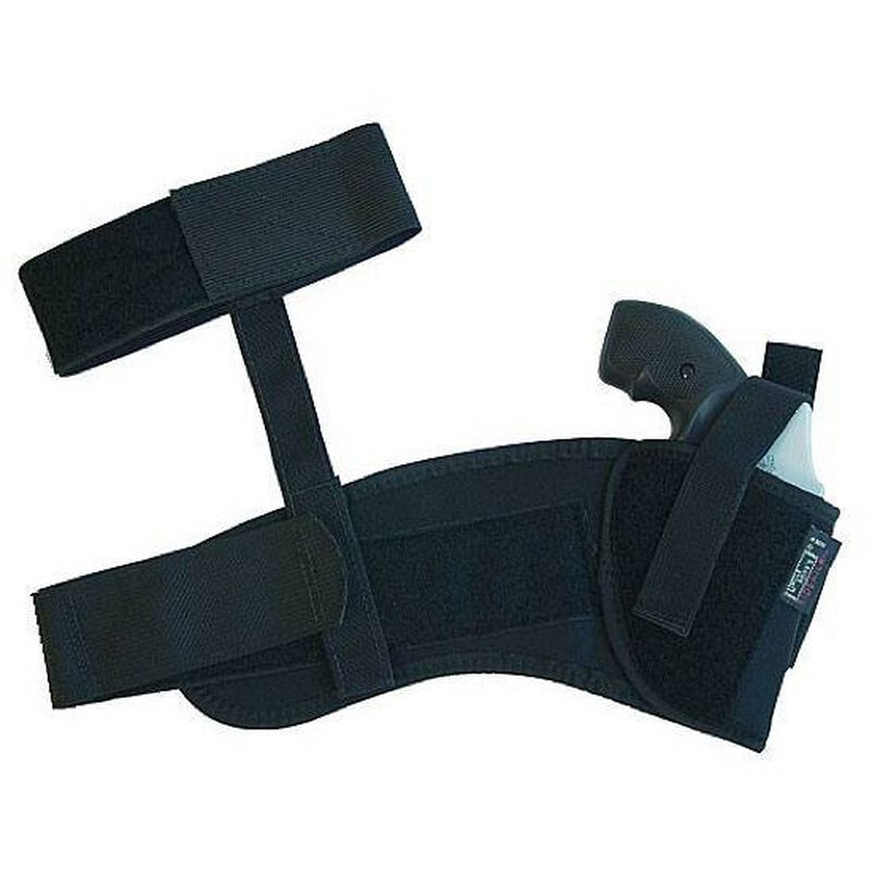 Uncle Mike's Ankle Holster Small-Frame Revolvers Size 0 Right Hand Nylon Black