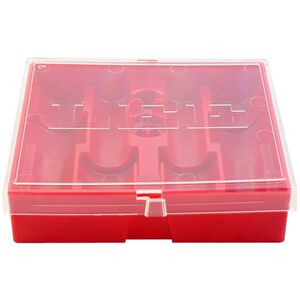 Lee Precision Four Die Storage Box Lay Flat Style Holds 4 Dies Hard Plastic Red 90422