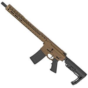 "Black Rain Ordnance Billet 5.56 NATO AR-15 Semi Auto Rifle 16"" Barrel 30 Rounds Free Float Hybrid Hand Guard Collapsible Stock Burnt Bronze Cerakote Finish"
