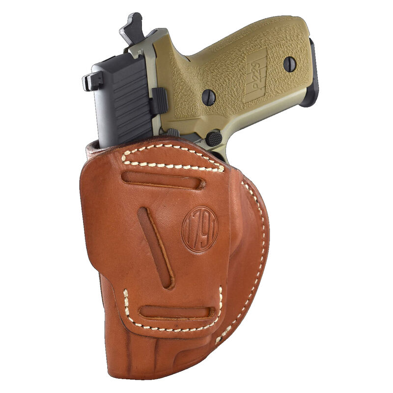 1791 Gunleather 4 Way WH-4 Multi-Fit IWB/OWB Concealment Holster for Sub Compact/Compact Semi Auto Models Right Hand Draw Leather Classic Brown
