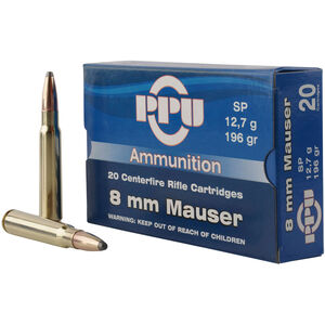 Prvi Partizan PPU Metric 8mm Mauser Ammunition 20 Rounds 196 Grain SP 2460fps
