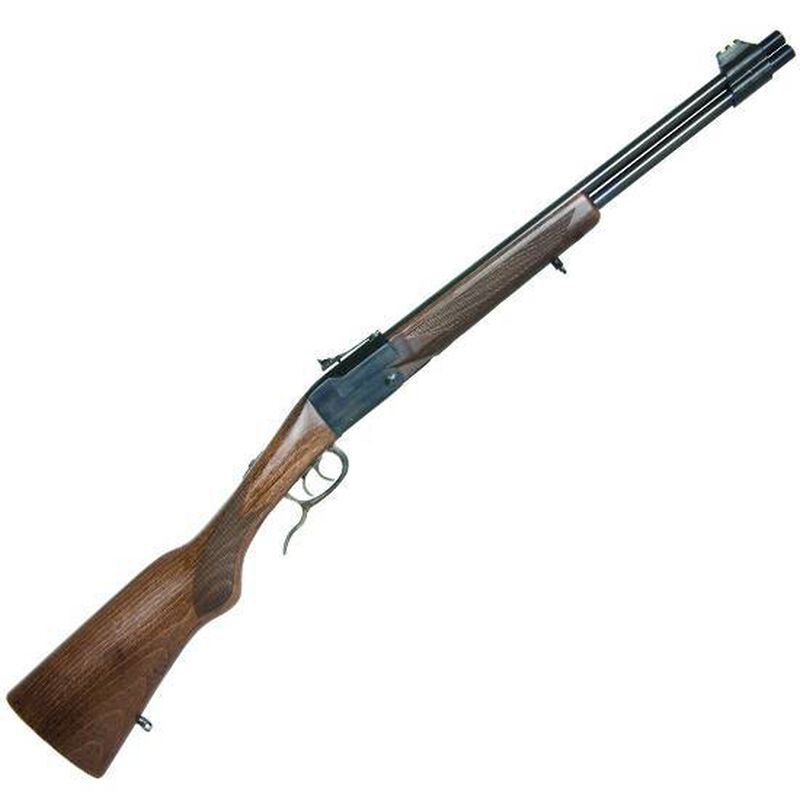 """Chiappa Firearms Double Badger Over/Under Rifle .22 Magnum/.410 Gauge 19"""" Barrel 2 Rounds Wood Stock Matte Black Finish 500.111"""