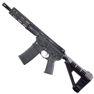 "LWRC DI AR-15 5.56 NATO Semi Auto Pistol 10.5"" Barrel 30 Rounds Modular One Piece M-LOK Free Float Rail System SB Tactical SBM4 Pistol Brace Matte Black"