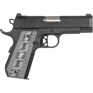 "Dan Wesson 1911 ECP .45 ACP Semi Auto Pistol 4"" Bull Barrel 8 Rounds Commander Sized Profile G10 Grips Black Duty Finish"