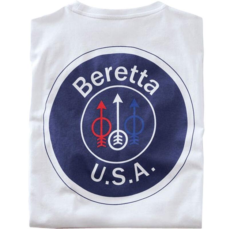Beretta USA Logo T-Shirt Short Sleeve Cotton Brown X-Large