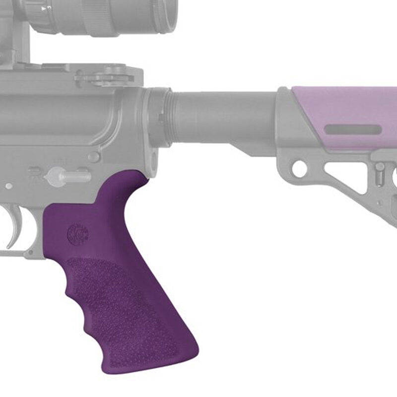 Hogue AR-15/M-16 OverMolded Pistol Grip With Beavertail Rubber Purple 15026