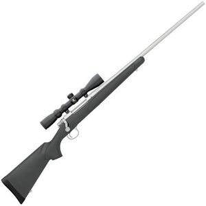 "Remington 700 ADL Package .243 Win Bolt Action Rifle 4 Rounds 24"" Barrel with Scope Black Synthetic Stock Stainless Steel Finish"