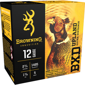 "Browning BXD Upland 12 Gauge Ammunition 250 Rounds 2.75"" #5 Lead 1.375 Ounce B193511225"
