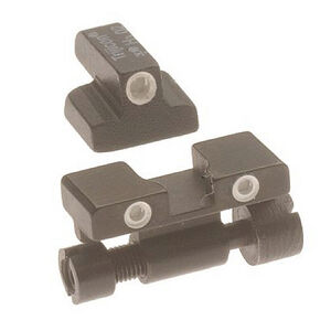 Trijicon Bright & Tough Night Sights Green Front/Rear S&W 9mm/.40 S&W Adjustable Rear Sight Black SA01