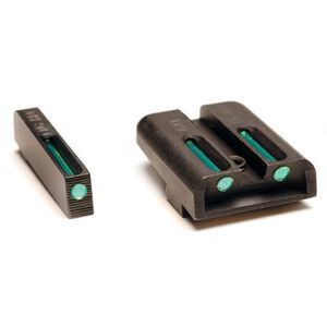 TRUGLO TFO Night Sights For GLOCK 42 Low Profile Green Fiber Optic Front and Rear Sight Set TG131GT1A