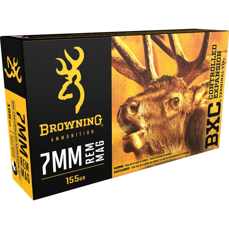 Browning BXC 7mm Remington Magnum Ammunition 200 Rounds BXC 155 Grains B192200071