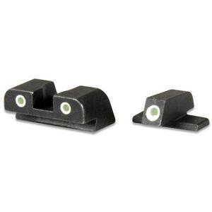 AmeriGlo Springfield XD/XDM/XDS 3-Dot Night Sights Complete Set Tritium Green Front/Rear CNC Milled Housing Black XD191